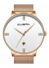 Cuena Magic rózsaarany-fehér fémszíjas női karóra CN5006