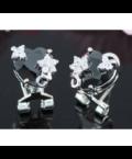 Flix Swarovski kristályos fülbevaló - Fekete