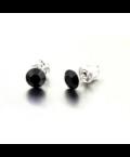 Jazzy fekete Swarovski® kristályos fülbevaló - Kerek Jet