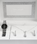 Excellanc Exclusive ezüst színű ajándékszett órával, nyaklánccal és fülbevalóval EX189120EL