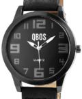 Minimal megjelenésű fekete QBOS Dark férfi karóra QB4164KL