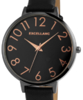 Trendi fekete színű Excellanc Pro női karóra EX189099TR