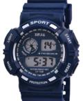 Xinjia kék digitális mélykék férfi sportóra stopperral, ébresztővel XI2501DG