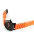 Trendi Adrina szilikonszíjas narancssárga női karóra AD4513TR
