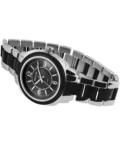 Trendi ezüst-fekete fémszíjas Excellanc karóra EX18361TR
