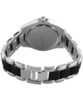 Extravagáns ezüst-fekete női karóra EX18376EX