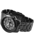 Trendi fekete fémszíjas női karóra EX18393TR