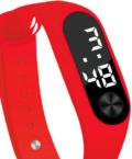 Geneva Sporty Red szilikon szíjas női karóra GE15126TR