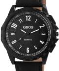 Karakteres fekete QBOS férfi karóra QB4130KL