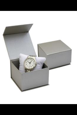 Ezüst színű, elegáns ajándékdoboz mágneses zárral AD20