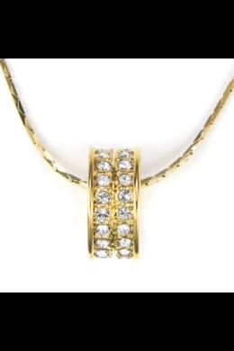 Swarovski kristályos nyaklánc:Arany karika medállal