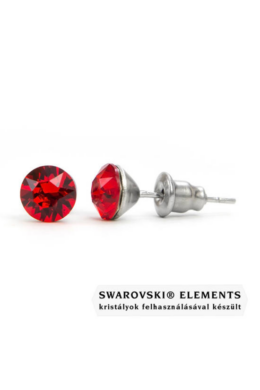 "Jazzy piros SWAROVSKI® kristályos fülbevaló \Aries\"" -Light Siam Kerek"""