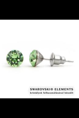 """Jazzy zöld SWAROVSKI® kristályos fülbevaló \Libra\"""" - Kerek Peridot"""""""