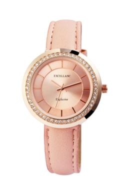 Elegáns rózsaszín Excellanc női karóra EX181086TR