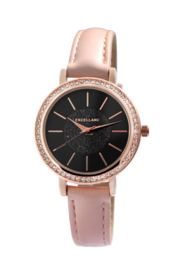 Rózsaszín cukormáz színű Excellanc női karóra EX181085TR