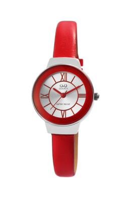 Trendi Q&Q Circ piros színű női karóra QQ3479TR