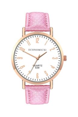 EconomicXI Modern női karóra texturált rózsaszín szíjjal EC8005TR