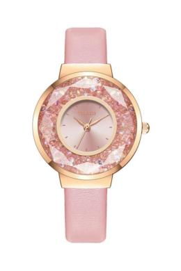 Yolako Disco női karóra rózsaszín színes kövekkel YO8107TR