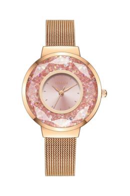 Yolako Disco női karóra rózsaarany színes kövekkel YO8109TR