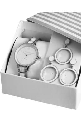 Excellanc Wannabee ezüst-fehér színű ajándékszett nyaklánccal és fülbevalóval EX189204TR