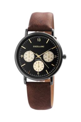 Excellanc Ritzy barna férfi karóra chronograph-os számlappal EX189134CH