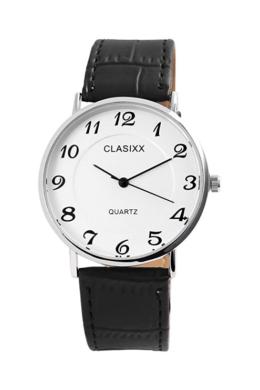 Classix Class fekete designbőr szíjas férfi karóra CX3338KL