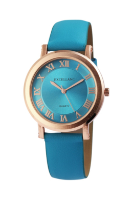 Excellanc pretty kék designbőr szíjas női karóra EX181053TR