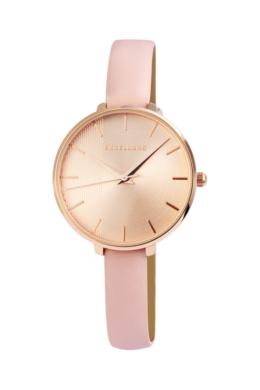 Excellanc finom vonású rózsaszín designbőr szíjas női karóra EX181071TR