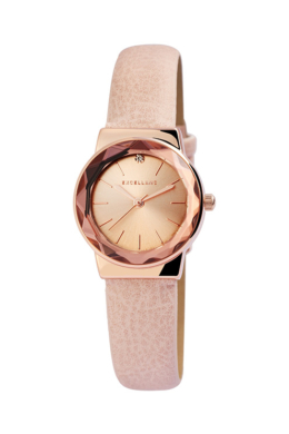 Rózsaszín Excellanc Point karóra csillogó strasszkővel EX189070TR