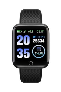 UNISEX TimeTech ár-érték bajnok fekete aktivitásmérő okosóra TT3607PR