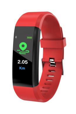 UNISEX TimeTech ár-érték bajnok meggypiros fitness okosóra TT3609PR