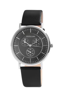 Excellanc Class fekete férfi karóra chronograph-os számlappal EX189042CH