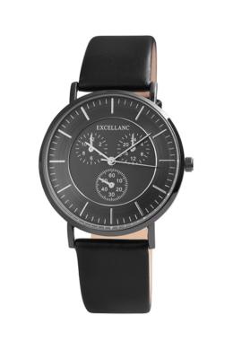 Excellanc Class fekete férfi karóra chronograph-os számlappal EX189069CH