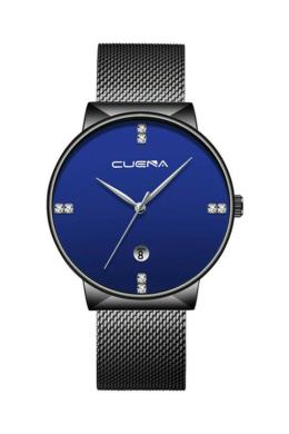 Cuena Magic fekete-kék fémszíjas női karóra CN5001