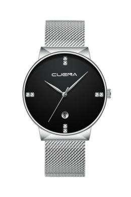 Cuena Magic ezüst-fekete fémszíjas női karóra CN5003