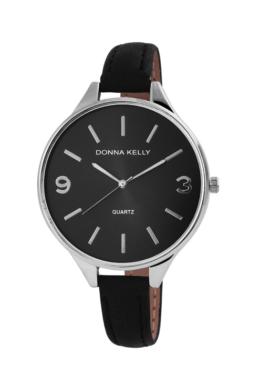 Gyönyörű fekete, elegáns női Donna Kelly karóra vékony szíjjal DK4602TR