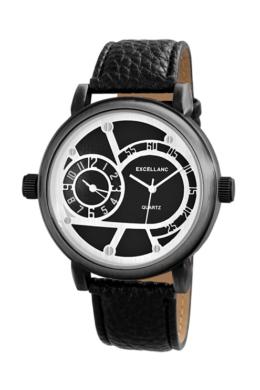 Vagány chronograph férfi Excellanc karóra fekete szíjjal EX18525CH