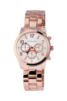 Rózsaarany Excellanc női karóra chronographokkal díszítve EX18647TR