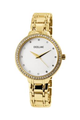 Excellanc Brill strasszos arany színű női karóra EX189033TR