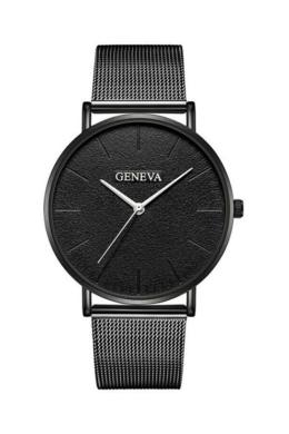 Geneva Life Black fémszíjas női karóra ezüst mutatókkal GE15086EX
