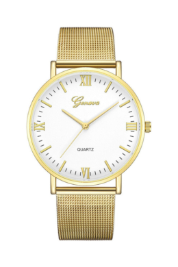 Geneva Fantastic Gold-White fémszíjas női karóra GE15083TR