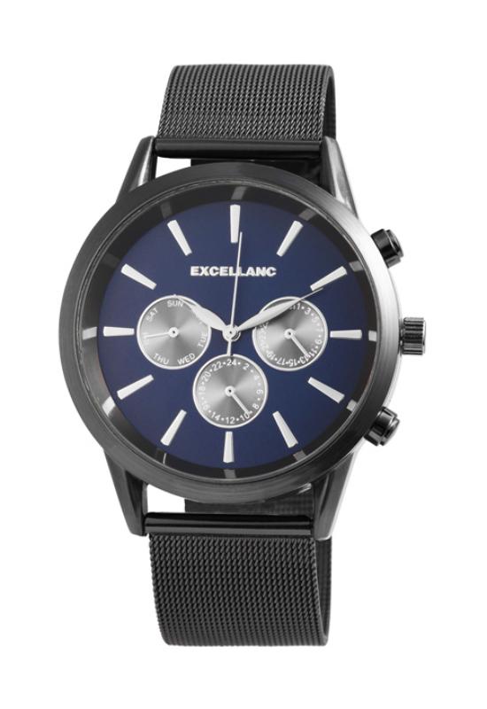 Excellanc Hard fekete férfi karóra chronográph-fal EX181059CH