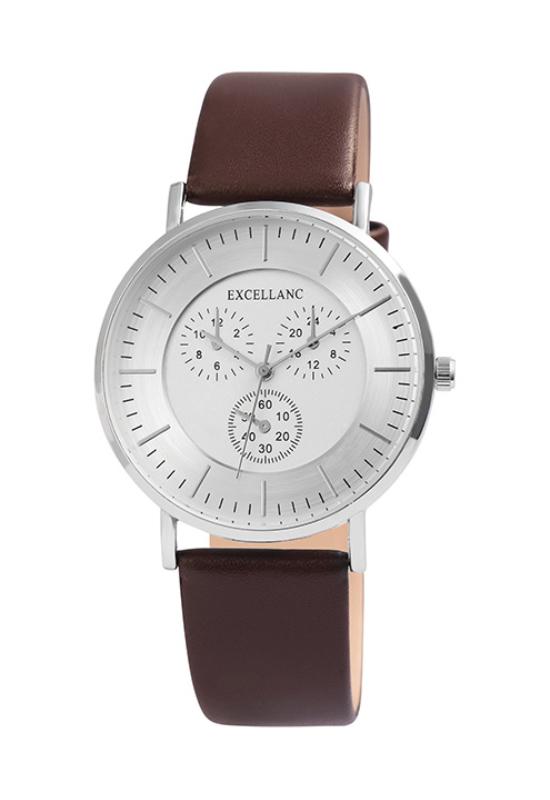 Excellanc Class barna férfi karóra chronograph-os számlappal EX189066CH