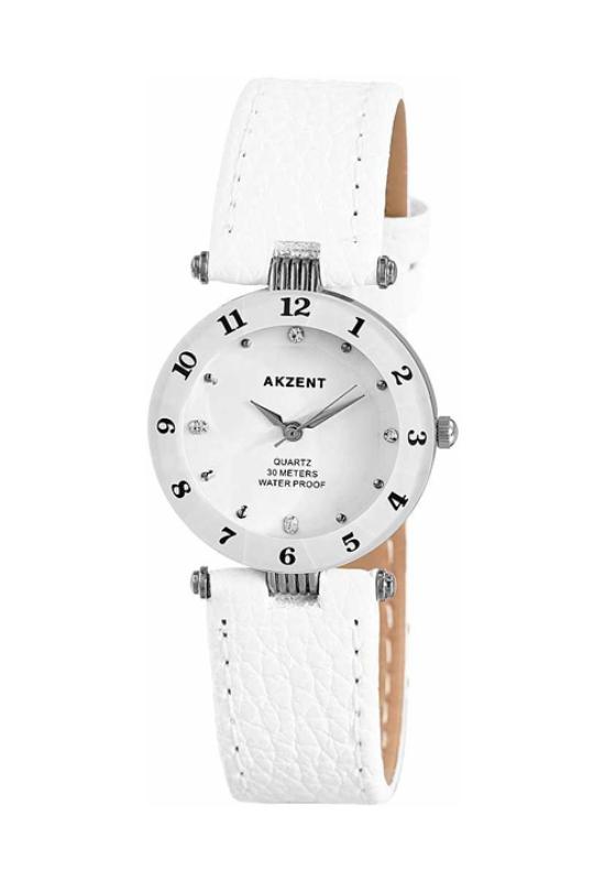Fehér Akzent trendi női karóra AK1965TR