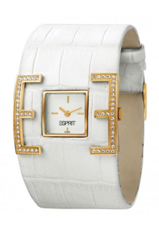 Esprit E-Motion Gold fehér női karóra ES101702003