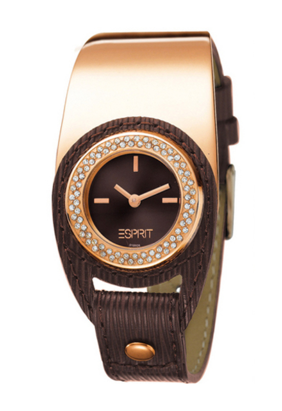 Esprit Sweet Button Rosegold barna női karóra ES101842003