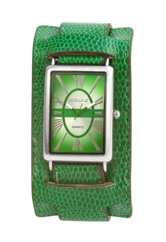 Trendi zöld Excellanc női karóra EX17401TR