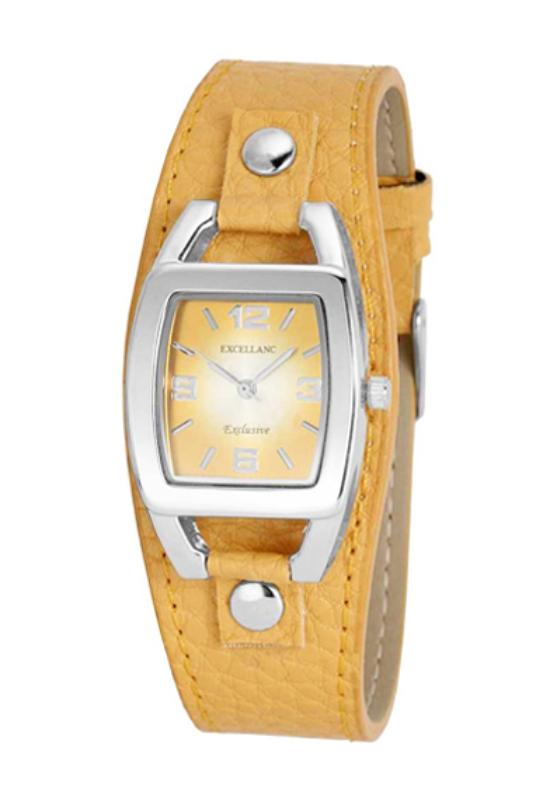 Trendi sárga Excellanc női karóra EX17590TR