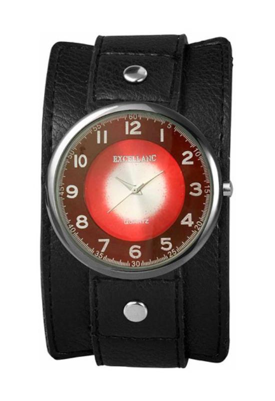 Fekete Excellanc karóra piros számlappal EX17652RE