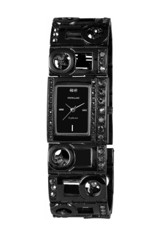 Extravagáns fekete Excellanc női karóra EX17860EX